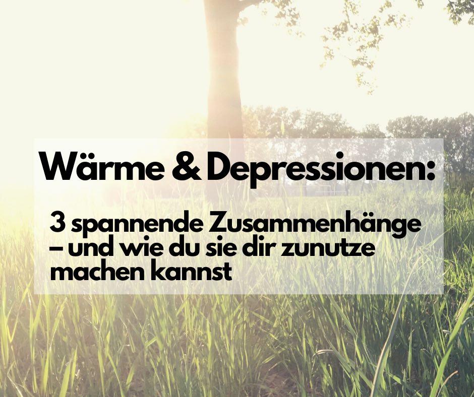 Read more about the article Wärme und Depressionen: 3 spannende Zusammenhänge – und wie du Wärmetherapien für dich nutzen kannst
