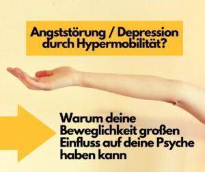 Read more about the article Angststörung oder Depression durch Hypermobilität? Warum deine Beweglichkeit großen Einfluss auf deine Psyche haben kann
